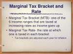 marginal tax bracket and rate