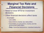 marginal tax rate and financial decisions