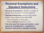 personal exemptions and standard deductions