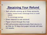 receiving your refund
