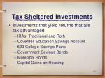 tax sheltered investments