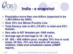 india a snapshot