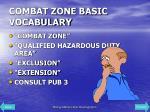 combat zone basic vocabulary