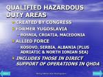 qualified hazardous duty areas