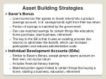 asset building strategies