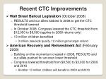 recent ctc improvements