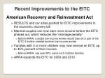 recent improvements to the eitc