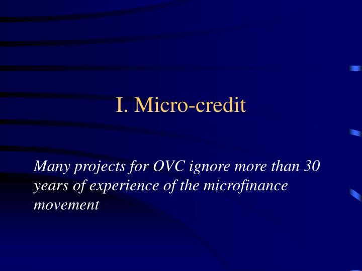 I micro credit