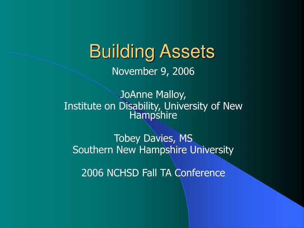 building assets l.