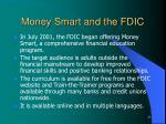 money smart and the fdic