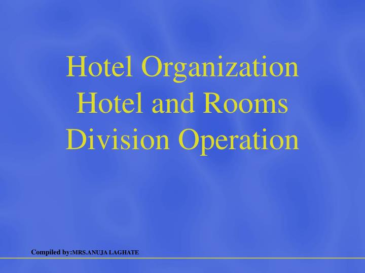 rooms division operation management 1 front office  front office has been described as the hub or nerve center of the hotel it is the department that makes a first impression on the guest and one that the guest relies on throughout his or her stay for information and service.