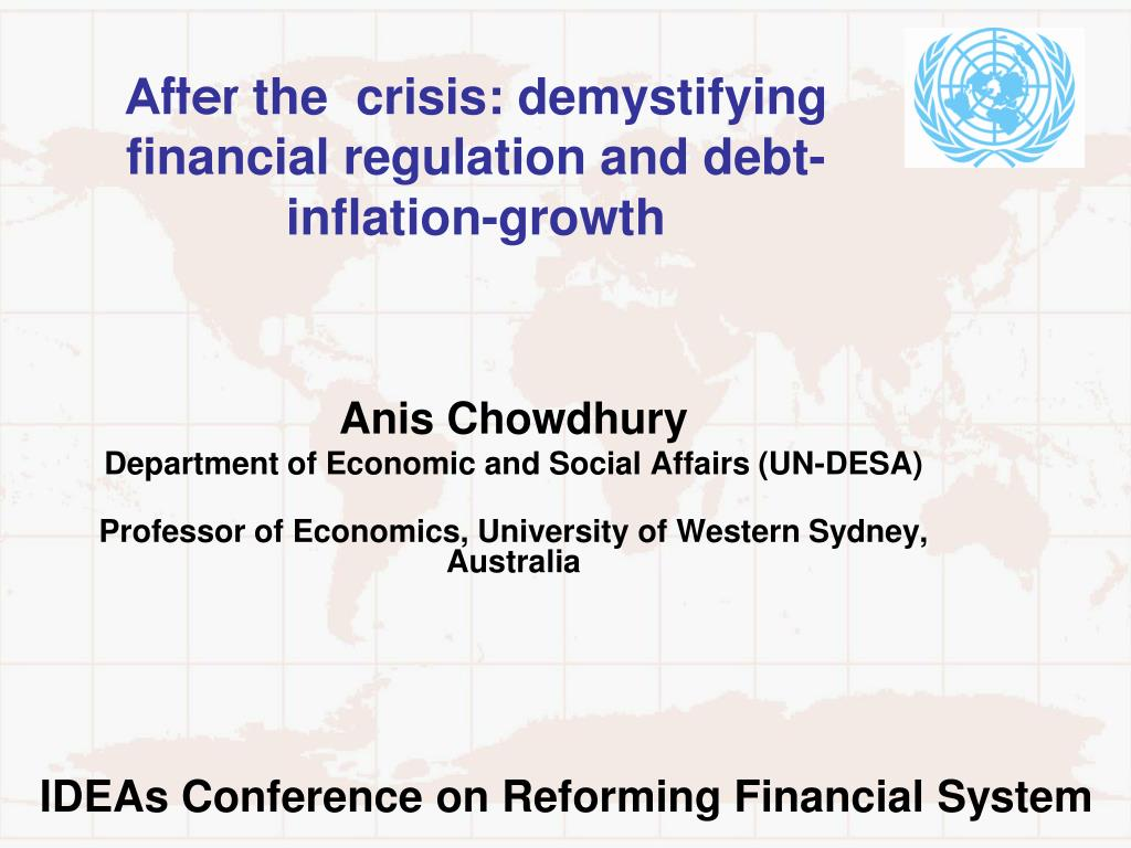 after the crisis demystifying financial regulation and debt inflation growth l.