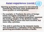 asian experience contd