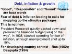 debt inflation growth