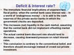 deficit interest rate