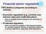 financial sector regulation