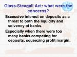 glass steagall act what were the concerns
