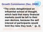 growth commission dec 2009