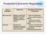 prudential economic regulations
