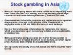 stock gambling in asia