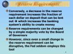 reserve requirements43