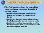 tools for controlling reserves