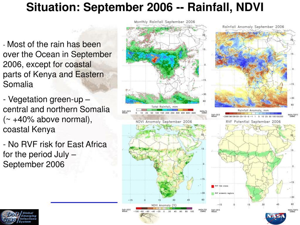 Situation: September 2006 -- Rainfall, NDVI