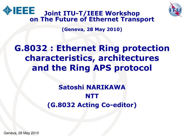 g 8032 ethernet ring protection characteristics architectures and the ring aps protocol n.