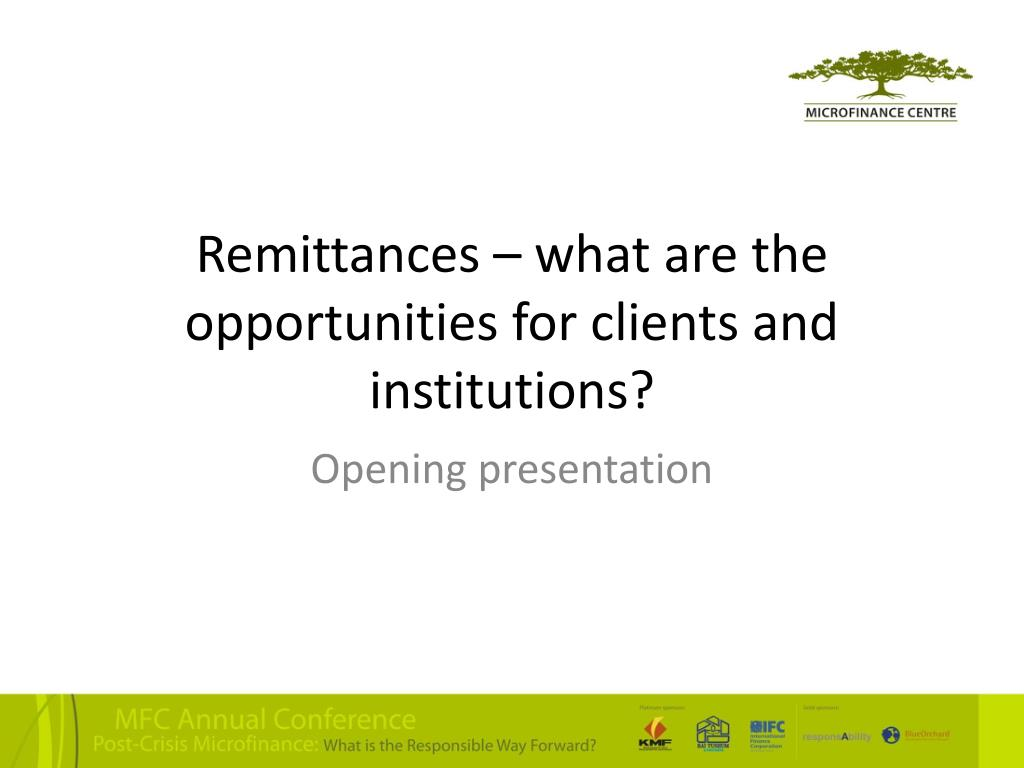 Remittances – what are the opportunities for clients and institutions?