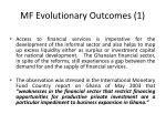 mf evolutionary outcomes 1