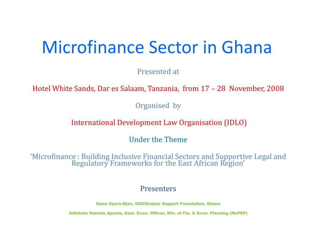 microfinance sector in ghana l.