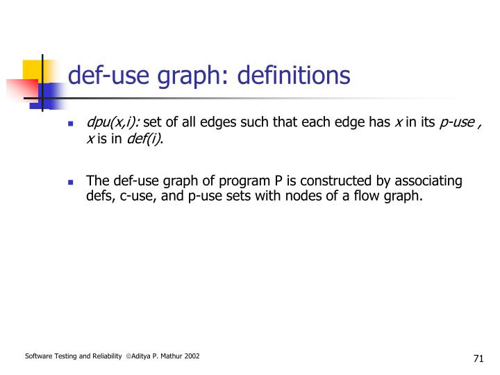 def-use graph: definitions