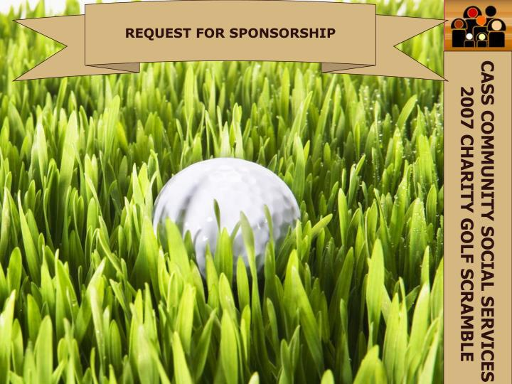 REQUEST FOR SPONSORSHIP