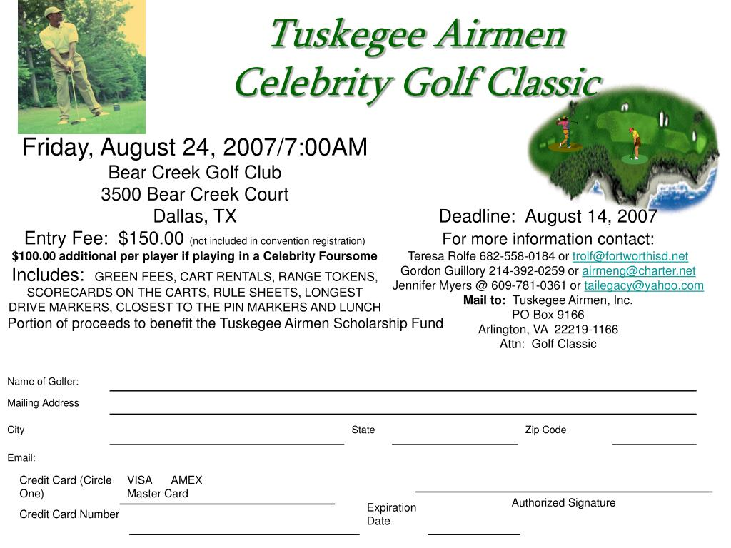 tuskegee airmen celebrity golf classic l.