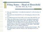 filing status head of household see pub 4012 pg 9 10