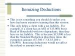 itemizing deductions