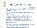 mini quiz 5 answer