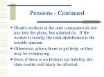pensions continued