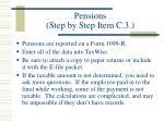 pensions step by step item c 3