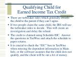 qualifying child for earned income tax credit89