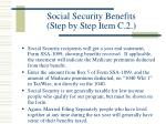 social security benefits step by step item c 2