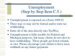 unemployment step by step item c 5