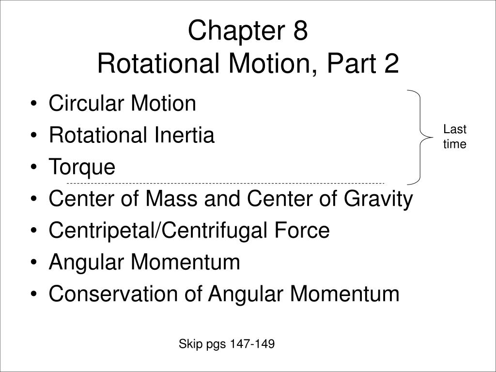 chapter 8 rotational motion part 2 l.