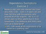 dependency exemptions exercise 243