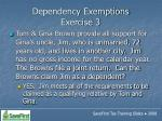 dependency exemptions exercise 352