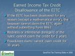 earned income tax credit disallowance of the eitc