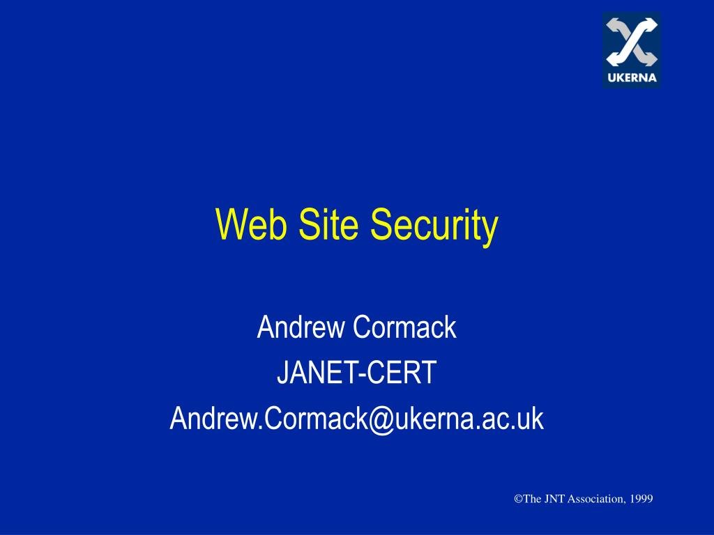 web site security l.