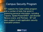 campus security program