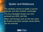 spider and mailboxes