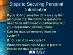 steps to securing personal information40